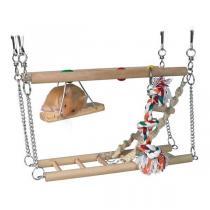 TRIXIE Houpačka do klece dvě patra + hračky 27x16x10cm