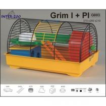 Inter zoo Klec GRIM I. kolor s plastovou výbavou 370x250x210mm