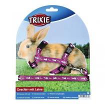 TRIXIE Postroj nylon. s vodítkem na králíka motiv 25-44 1cm 1,25m