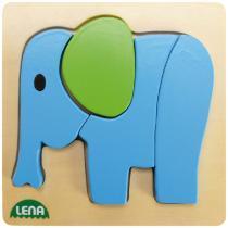 LENA 32061 - Dřevěné puzzle, slon