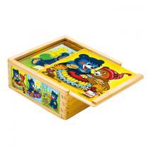 Bino Dřevěné obrázkové kostky Baribal