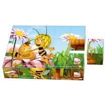Bino 13617 - Včelka Mája – obrázkové kostky 15 ks