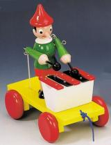 Bino 80037 - Tahací Pinocchio s xylofonem