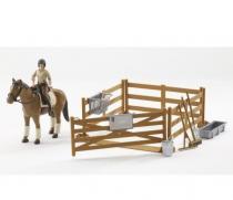 BRUDER 62500 Bworld - Ohrada, kůň, figurka