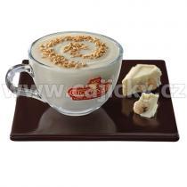 Cioconat Horká čokoláda - Bílá s oříšky, 28g