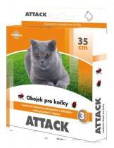 ATTACK obojek pro kočky proti blechám a klíšťatům 35cm