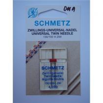 Schmetz dvojjehla 130/705 H univerzal, rozpich 4 mm / 80