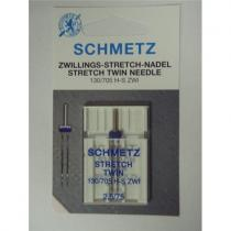 Schmetz dvojjehla 130/705 H stretch, rozpich 2,5 mm / 75