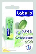 Beiersdorf Labello Balzám na rty Pure & Natural Olive & Lemon 4,8 g