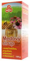 Purus Meda PM MEDOVÝ SIRUP s mateří kašičkou, propolisem, echinaceou a vitamínem C 100g