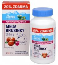 Swiss Herbal Remedies Mega Brusinky 500 mg 50 kapslí