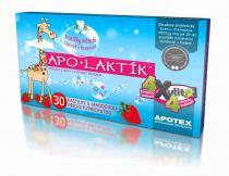 Apotex Apo-Laktík žvýkací pastilky s jahodovou příchutí 30 ks