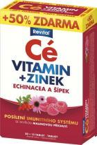 Vitar Revital Cé vitamin + zinek + echinacea a šípek 30 tablet