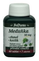 Medpharma Meduňka 50 mg + chmel + kozlík 60 tbl.
