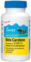 Swiss Herbal Remedies Beta karoten 10.000 m.j. plus vitamin C, E a Selén 60 kapslí