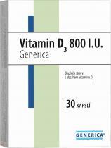 Generica Vitamin D3 800 I.U. 30 kapslí