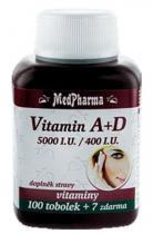Medpharma Vitamín A + D 100 tob. + 7 tob.