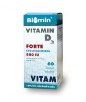 Biomin Vitamin D3 Forte 800 I.U. 60 kapslí