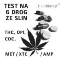 Alfa Scientific Designs Test na 6 drog ze slin - thc, opi, coc, met, xtc, amp