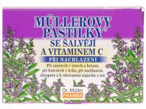 Dr. Müller Müllerovy pastilky se šalvějí a vitamínem C 12ks