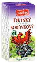 Mediate Apotheke Dětský ovocný čaj borůvkový 20x2g