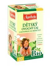 Mediate Apotheke Bio Dětský ovocný s meduňkou 20x2g