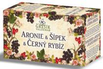 Valdemar Grešík Aronie & Šípek & Černý rybíz ovocný čaj n.s. 20x2g