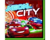 BANQUET Ubrousky 2-vrstvé 33x33 cm 20 KS Cars Neon