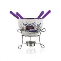 BANQUET Lavender 6ti dílné fondue na čokoládu
