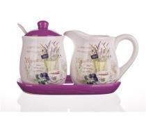 BANQUET Lavender 4dSet mléčenka s cukřenkou OK