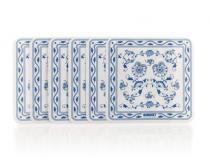 VETRO-PLUS 6-dílná sada plastového prostírání 10x10 cm ONION