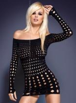 Obsessive Rocker dress Černá