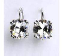 Čistín ,crystal-čirá,šperky s krystaly,stříbro, NK 1225