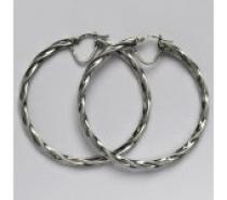 Čistín Stříbrné náušnice,kruhy,7,07 g