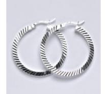 Čistín Stříbrné náušnice,kruhy, 8,51 g
