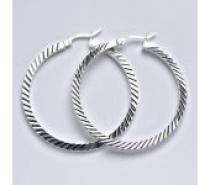 Čistín Stříbrné náušnice,kruhy, 8,08 g