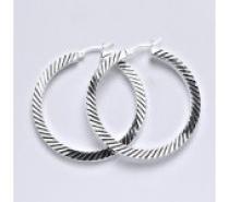 Čistín Stříbrné náušnice,kruhy, 6,02 g