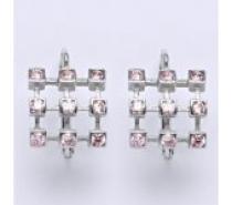 Čistín Náušnice stříbrné se zirkony, NK 1312