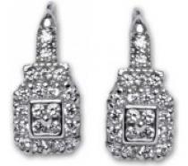 Čistín Náušnice stříbrné E0086 crystal