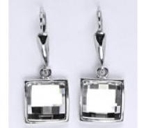 Čistín Náušnice ze stříbra s krystalem swarovski, NK 1305/20