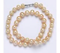 Čistín Perly přírodní říční 44 cm 9 mm lososová, náhrdelník