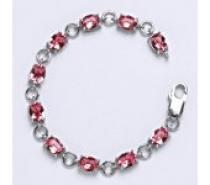Čistín stříbrný náramek s krystaly Swarovski rose R 1245