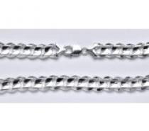 Čistín stříbrný pánský silný náramek, řetěz 23 cm
