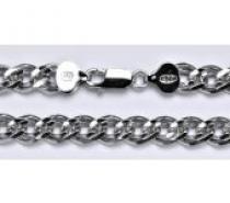 Čistín stříbrný silný náramek, řetěz 7