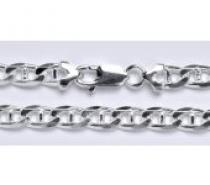 Čistín stříbrný silný náramek, řetěz 8 14,03