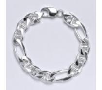 Čistín stříbrný silný náramek, řetěz 11