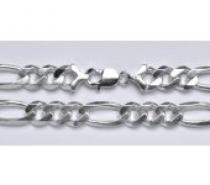 Čistín stříbrný silný náramek, řetěz 12