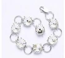 Čistín stříbrný náramek s krystaly Swarovski Rivoli Crystal R 1188