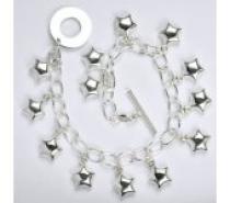 Čistín stříbrný náramek, řetízek, 18,25 g, 21 cm