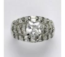 Čistín stříbrný prsten s čirými zirkony, 5,95 g